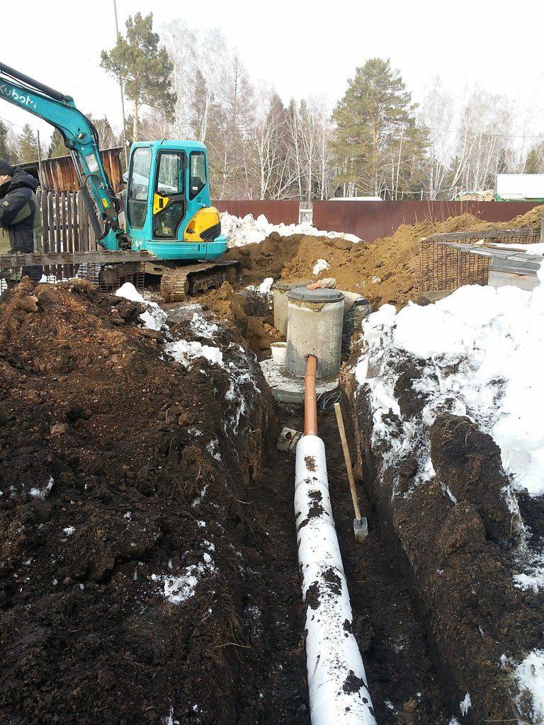 Прокладка канализации в Красноярске
